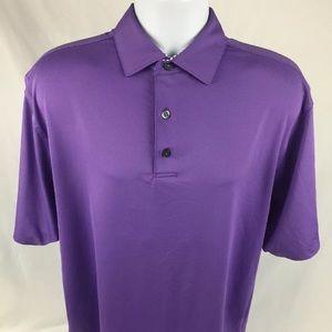 Men's L FootJoy Dry Joy FJ Purple Polo Golf Shirt